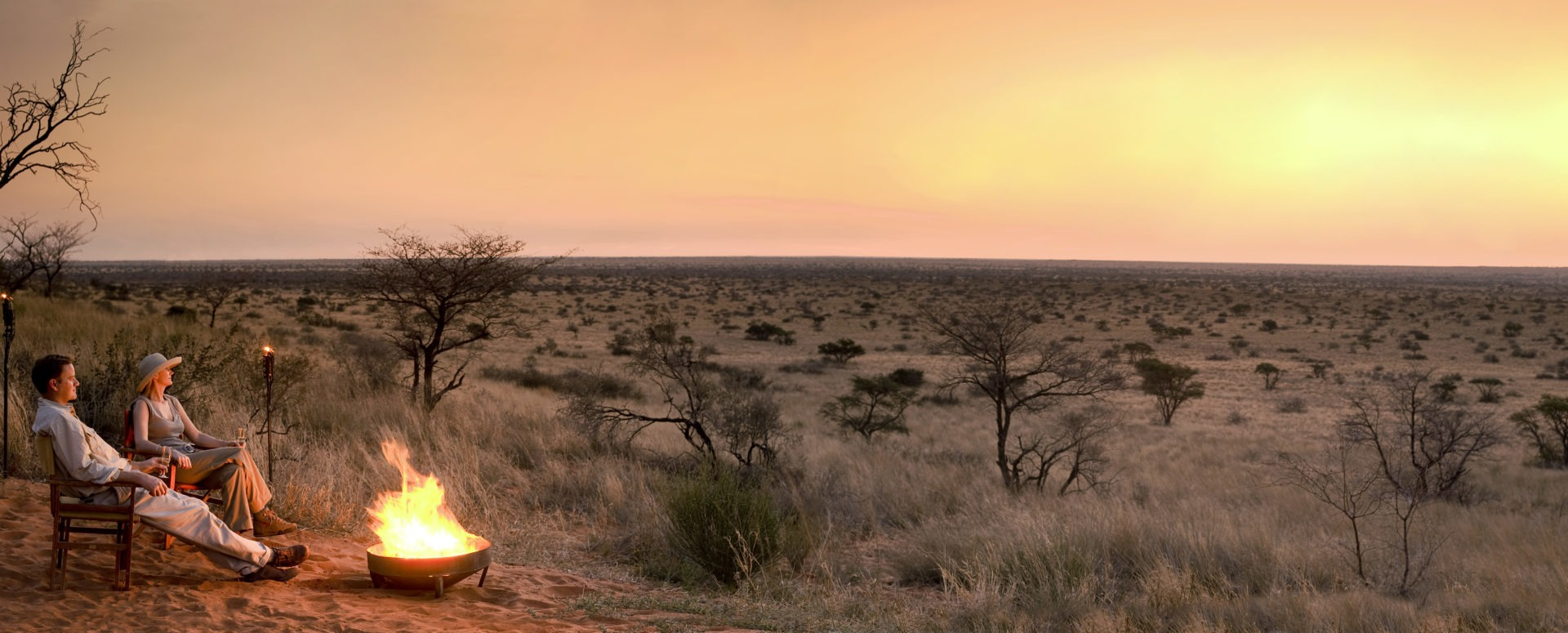 tswalu kalahari south africa fireplace view