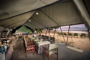 zambezi expeditions mana pools indoor dining