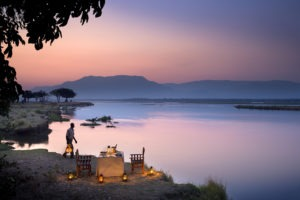 zambezi expeditions mana pools private dinner