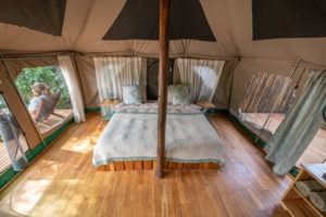 manyara green camp double bed