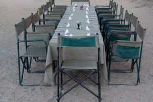 mobile camp dome ultimate safaris dinner table