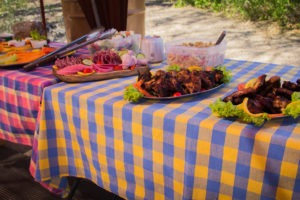 mobile camp dome ultimate safaris lunch