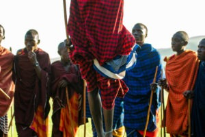 mysigio camp maasai jumping