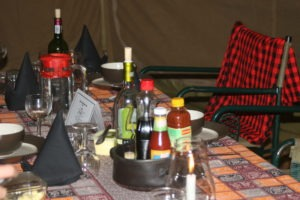 mysigio camp tanzania table