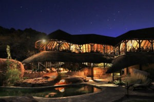 twyfelfontein country lodge at night