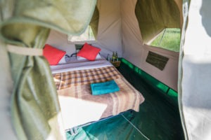 wayo walking camp serengeti tent interior