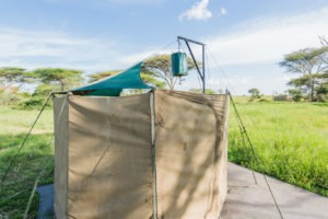 wayo walking camp serengeti toilet tent