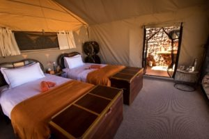 Sossus Under Canvas Guest Room Interior