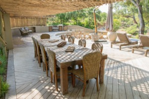 amani safari camp dinner deck