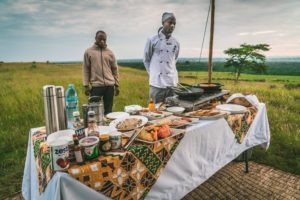 ishasha wilderness camp uganda bush brunch