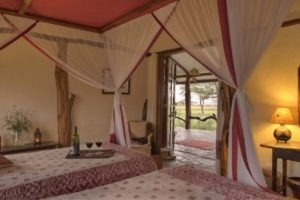 Masai Mara Topi House bedroom view exterior MR