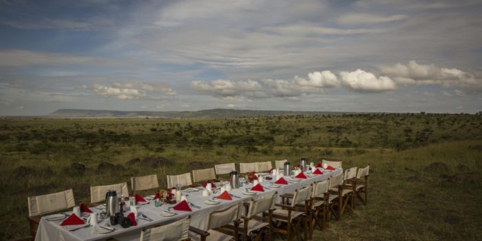 Masai Mara Karen Blixen outside dining