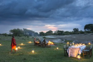 Richards Masai Mara bush dinner