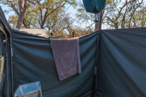 mobile safari botswana luxury tent shower