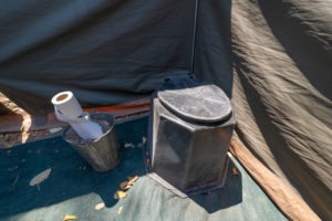 mobile safari botswana luxury tent toilet