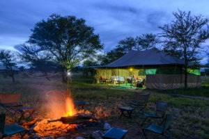serengeti wilderness camp tanzania fire