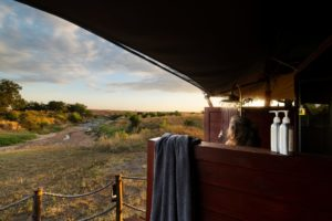 Elewana Sand River Family tent shower