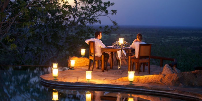 Elsas Kopje accommodation private dinner by the swimming pool Silverless11