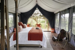 Ngorongoro Sanctuary tent view outside