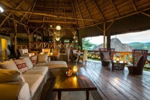crater safari lodge uganda wooden lounge
