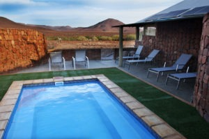 Etendeka Mountain Camp swimming pool