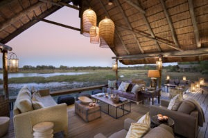 botswana okavango delta sable alley sunset