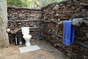 selati tented camp south africa toilet