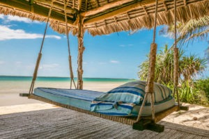 Manda Bay Lamu kenya Coast daybed beach