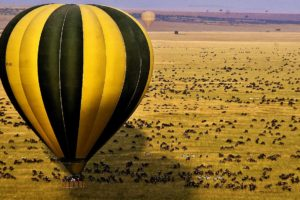 Masai mara Migration hot air balloon camp ya kanzi