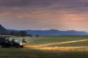 Night game drive andBeyond Lake Manyara Tree Lodge