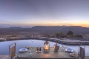Private dining at upper pool Saruni Samburu Kenya