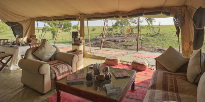 Saruni Wild the dining area has wonderful views of the plains Saruni Wild Masai Mara Kenya
