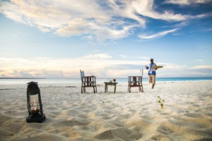 Sundowners at andBeyond Mnemba Island