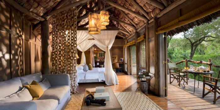 Treehouse Suite interior andBeyond Lake Manyara Tree Lodge