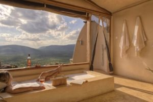 Villa 4 Bathroom with a view Saruni Samburu Kenya