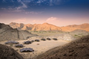 10Hoanib Valley Camp Arial tents at dusk