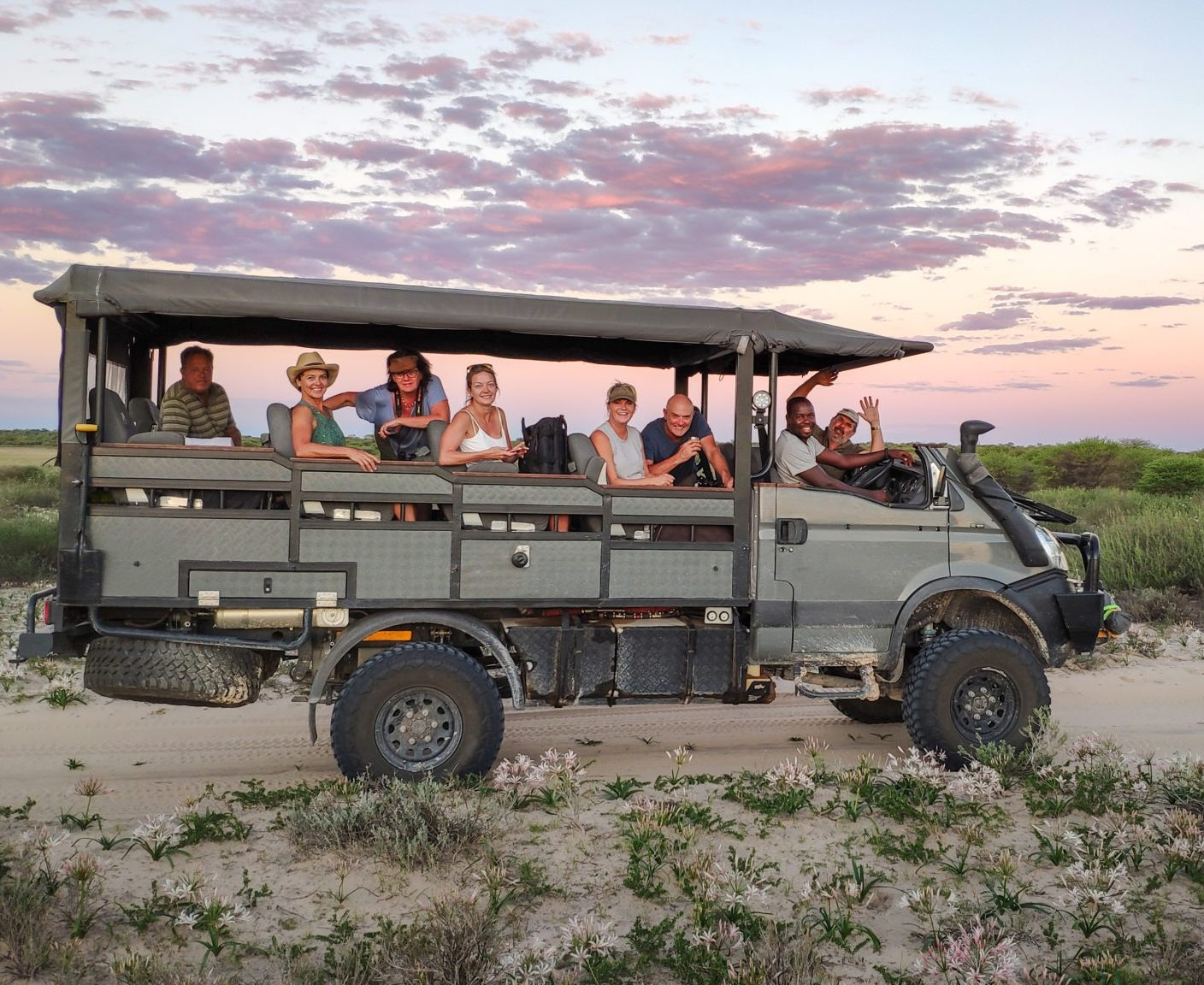 botswana kalahari beast group of friends private safari guided